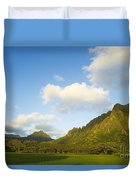 Kualoa Ranch Duvet Cover by Dana Edmunds - Printscapes
