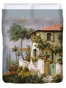 La Casa Giallo-verde Duvet Cover by Guido Borelli
