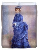 La Parisienne The Blue Lady  Duvet Cover by Pierre Auguste Renoir