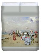 La Plage De Trouville Duvet Cover by Paul Rossert