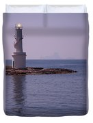 La Sabina Lighthouse Formentera And The Island Of Es Vedra Duvet Cover by John Edwards