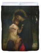 Laddolorata Duvet Cover by Antoine Auguste Ernest Herbert or Hebert