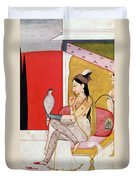 Lady With A Hawk Duvet Cover by Guler School