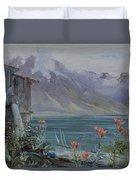 Lake Geneva Duvet Cover by John William Inchbold