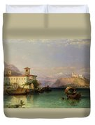 Lake Maggiore Duvet Cover by George Edwards Hering