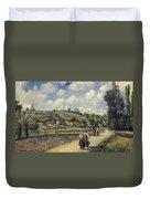 Landscape Near Pontoise Duvet Cover by Camille Pissarro