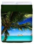 Lanikai, Palm Tree Duvet Cover by Dana Edmunds - Printscapes