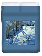 Large Snowball Zermatt Duvet Cover by Andrew Macara