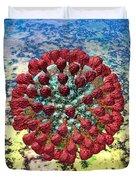 Lassa Virus Duvet Cover by Russell Kightley