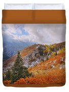 Last Fall Duvet Cover by Chad Dutson