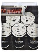 Late Night Guinness Limerick Ireland Duvet Cover by Teresa Mucha
