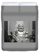 Laughing Buddha - A Symbol Of Joy And Wealth Duvet Cover by Christine Till