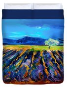 Lavender Field Duvet Cover by Elise Palmigiani