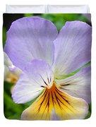 Lavender Pansy Duvet Cover by Nancy Mueller