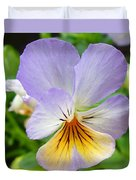 Lavender Pansy Duvet Cover by Nancy Mueller