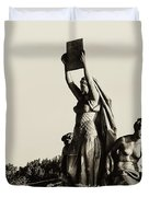Law Prosperity and Power in Black and White Duvet Cover by Bill Cannon