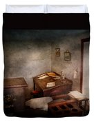 Lawyer - The Law Office Duvet Cover by Mike Savad