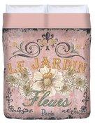 Le Jardin 1 Duvet Cover by Debbie DeWitt