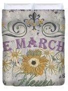Le Marche Aux Fleurs 1 Duvet Cover by Debbie DeWitt