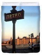 Le Metro At Dusk Duvet Cover by Kathy Yates