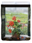 Le Persiane Sulla Valle Duvet Cover by Guido Borelli
