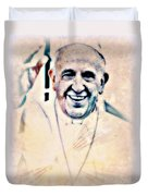 Leader For Peace, Community, Love Duvet Cover by WBK