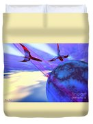 Leading Edge Duvet Cover by Corey Ford