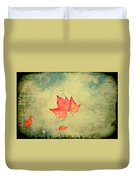 Leaf Upon The Water Duvet Cover by Bill Cannon