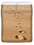 Leave Only Footprints Duvet Cover by Heather Applegate