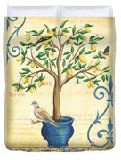Lemon Tree Of Life Duvet Cover by Debbie DeWitt