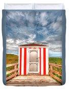 Lifeguard Hut Duvet Cover by Elisabeth Van Eyken