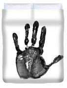 Lifeline - Free Hand Duvet Cover by Michal Boubin