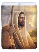 Light Of The World Duvet Cover by Greg Olsen