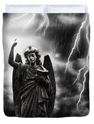Lightning Strikes the Angel Gabriel Duvet Cover by Amanda And Christopher Elwell