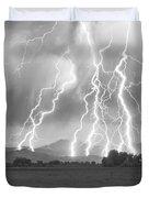 Lightning Striking Longs Peak Foothills 4CBW Duvet Cover by James BO  Insogna
