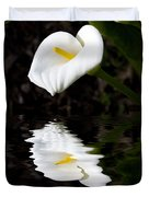 Lily Reflection Duvet Cover by Avalon Fine Art Photography