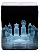 Lines Of Defence Duvet Cover by Ann Garrett