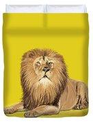 Lion painting Duvet Cover by Setsiri Silapasuwanchai
