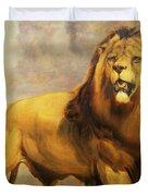 Lion  Duvet Cover by William Huggins