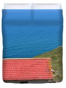 Little Shack At The Point Reyes Lighthouse in California . 7D16020 Duvet Cover by Wingsdomain Art and Photography