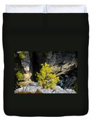 Living On The Edge Duvet Cover by David Lee Thompson