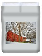 Loafing Shed Duvet Cover by Marilyn Hunt