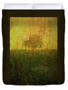 Lone Tree In Meadow -textured Duvet Cover by Dave Gordon