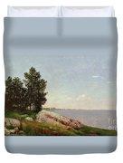 Long Island Sound At Darien Duvet Cover by John Frederick Kensett