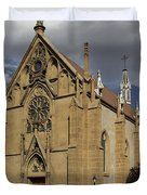 Loretto Chapel - Santa Fe Duvet Cover by Mike McGlothlen