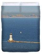Los Angeles Harbor Light - Angel's Gate - California Duvet Cover by Christine Till