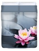 Lotus Blossoms Duvet Cover by Elena Elisseeva