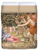 Love And The Maiden Duvet Cover by JRS Stanhope