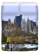 Love In Central Park Too Duvet Cover by Randy Aveille