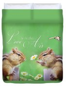 Love Is In The Air Duvet Cover by Lori Deiter